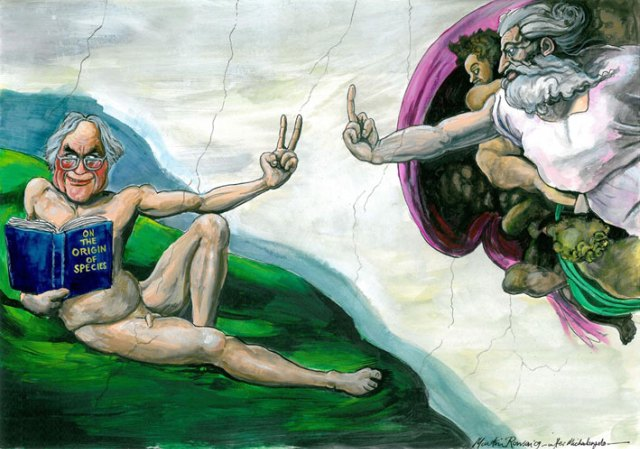 Dawkins, Art Preview: Martin Rowson's Godless Drawings