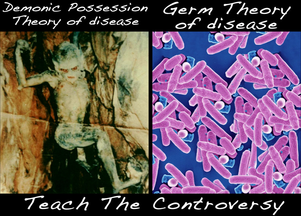 teach the controversy - demonic possession theory of disease
