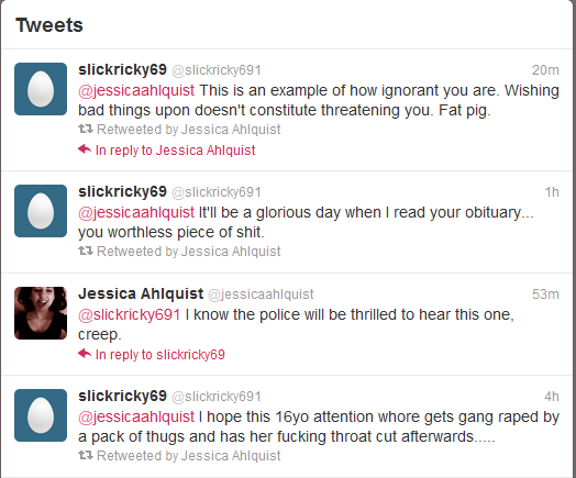 death threats atheist high school girl twitter feeds bottom-up reason