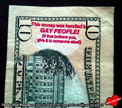 money handled by gay people