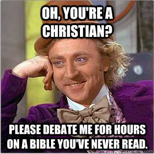 oh you're a christian