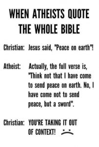 atheists quoting the bible